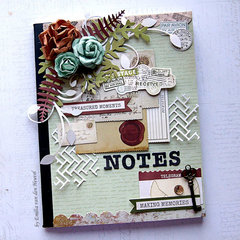 Shabby Notebook {Kaisercraft & Merly Impressions}