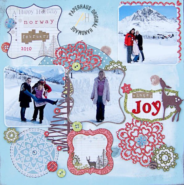 Winter Joy {DT work for the PaperHaus Magazine}