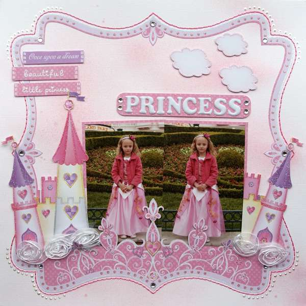 Little Princess {DT work for Scrapbook Challenges}