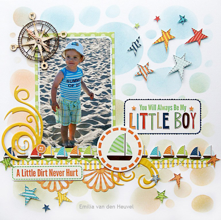My Little Boy {DT work for Scrapbook Challenges}