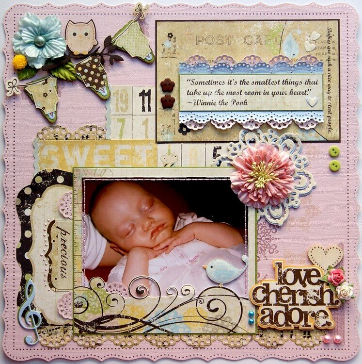The Smallest Things {DT work for Scrapbook Challenges}