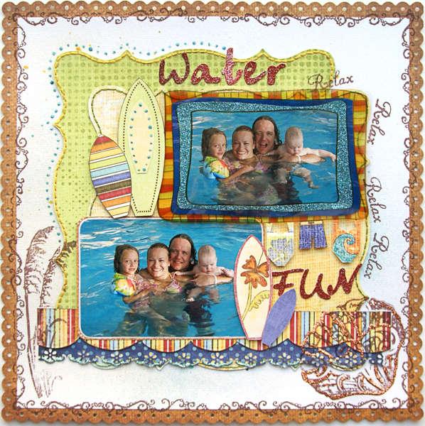 Water Fun {DT work for Scrapbook Challenges}
