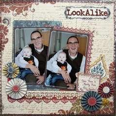 Look-Alike {ST work for Scrapbook Challenges}