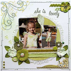 Lovely {DT work for Scrapbook Challenges}