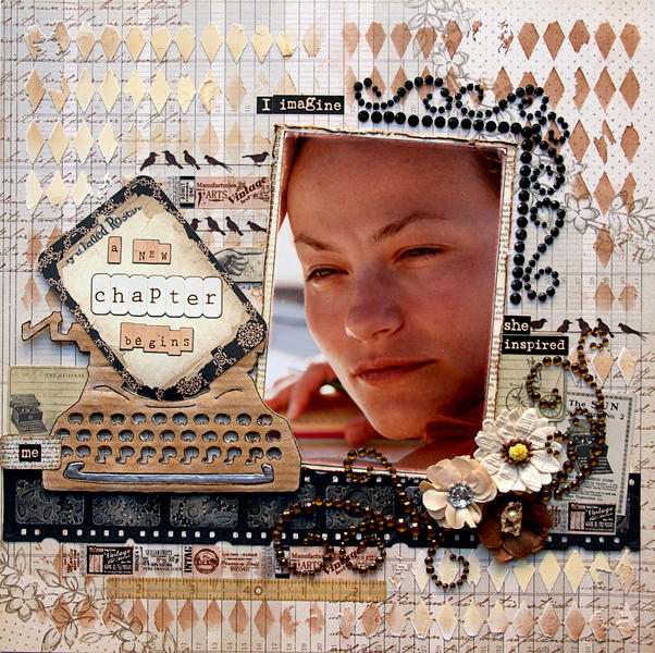 New Chapter {DT work for Scrapbook Challenges}