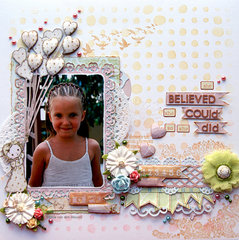 She Believed {Scrapbook Challenges}