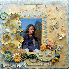 Smiles 'n Butterflies {DT work for Sketchabilities}