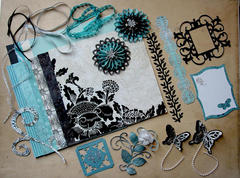 December Kit Swap - Turquoise and Black