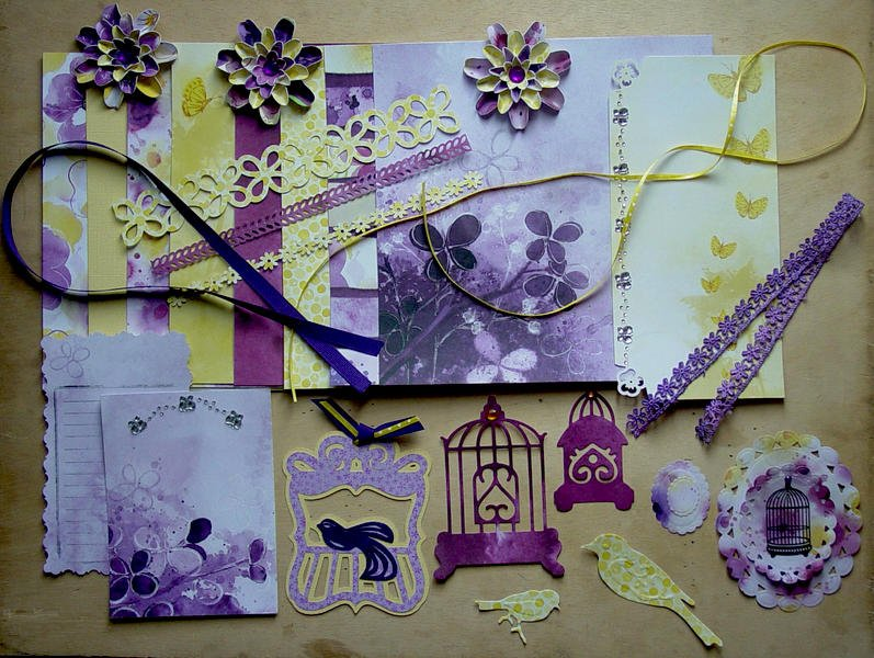 February 8x8 Kit Swap - Violet & Yellow