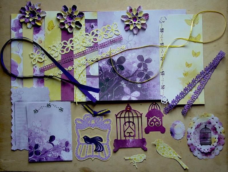 February 8x8 Kit Swap - Violet & Yellow