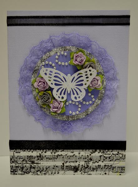 Swirlydoos Kit Club, Ultimate Designer Challenge. Week 1 - Butterfly Card