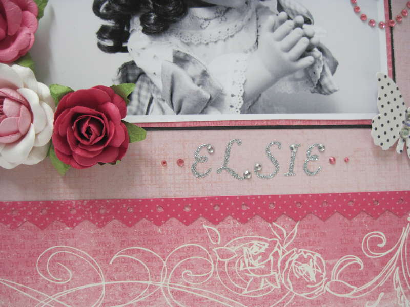 """Lovely Elsie - Spring Splurge """"PINK Challenge"""" Layout - Details"""