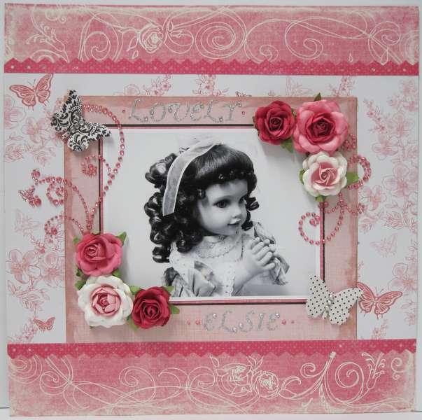 """Lovely Elsie - Spring Splurge """"PINK Challenge"""" Layout"""