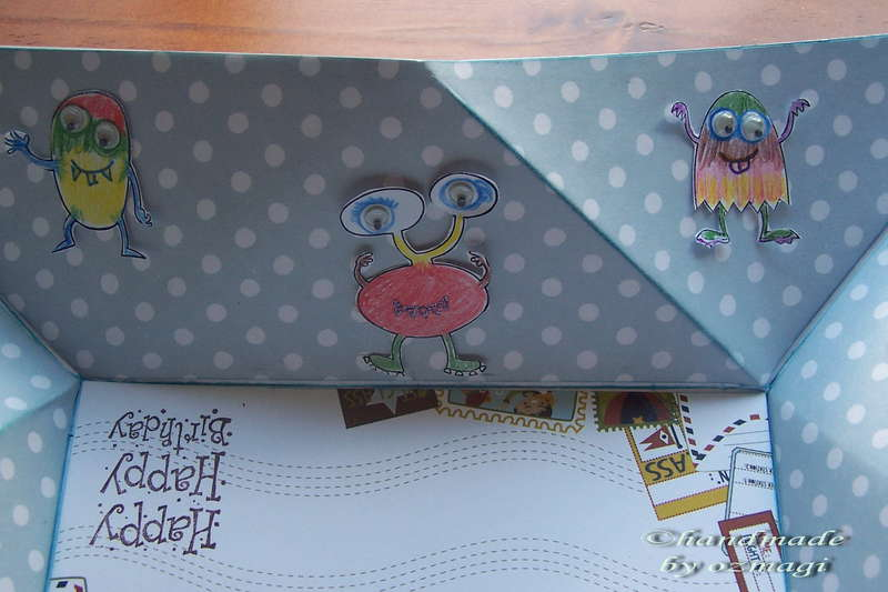 detail of the boy card