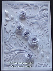 a all white card
