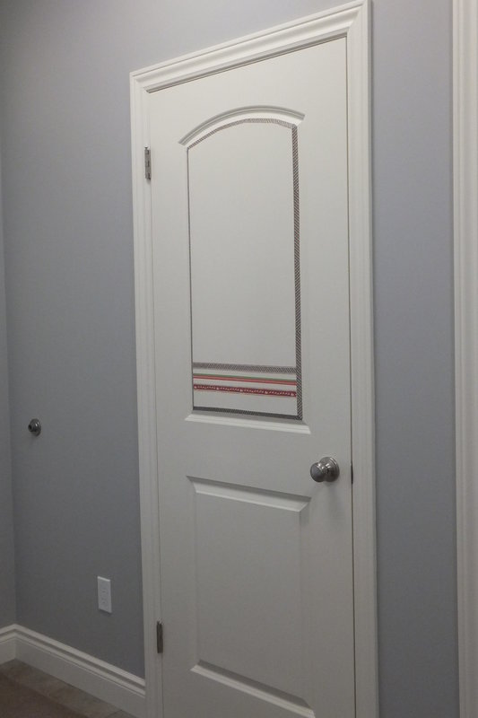 front closet door trimmed using Paper House washi tapes