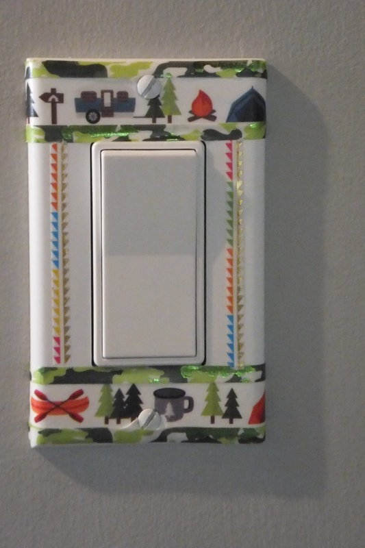 switch plate trimmed using Paper House washi tapes