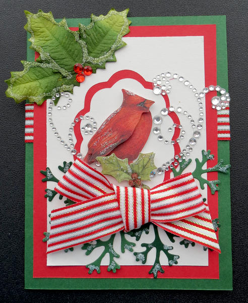 Red Bird Christmas Card