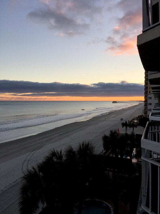 Sunset over Garden City  Beach Pier