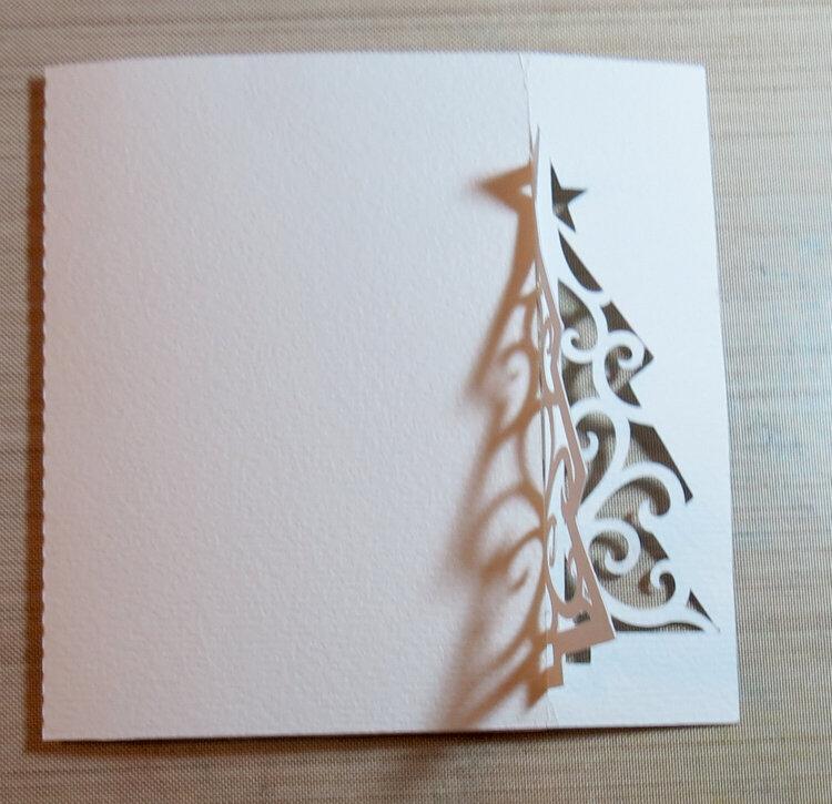 3D All White card
