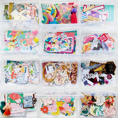 Clear Craft Storage Boxes 4x6 17 Piece Set