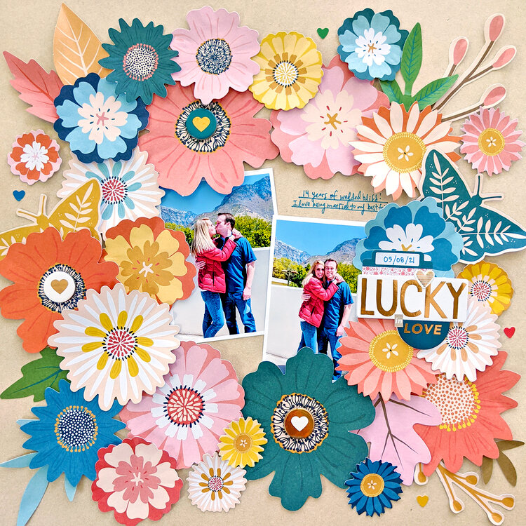 Lucky in Love Layout by Paige Evans