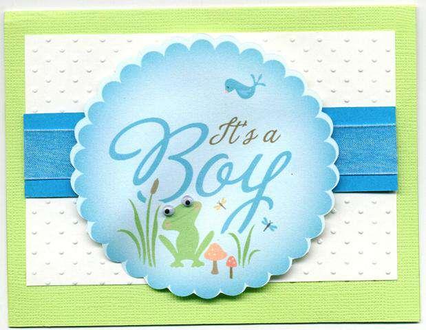 Cricut Imagine- Baby Boy Card (front)