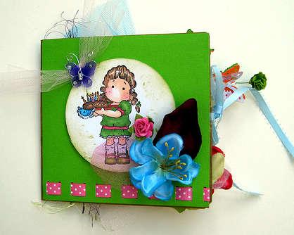 Birthday Tilda card front