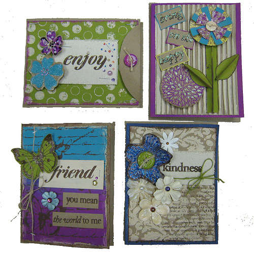 Bold Backgrounds Cards Set