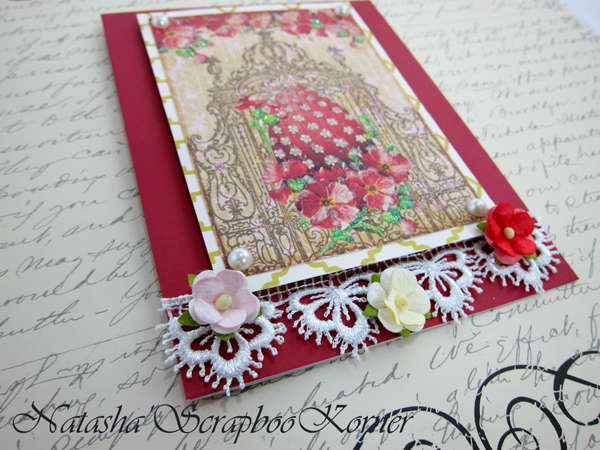 Easter Shabby Chic Card #1