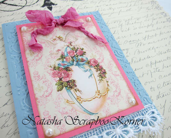 Easter Shabby Chic Card #3