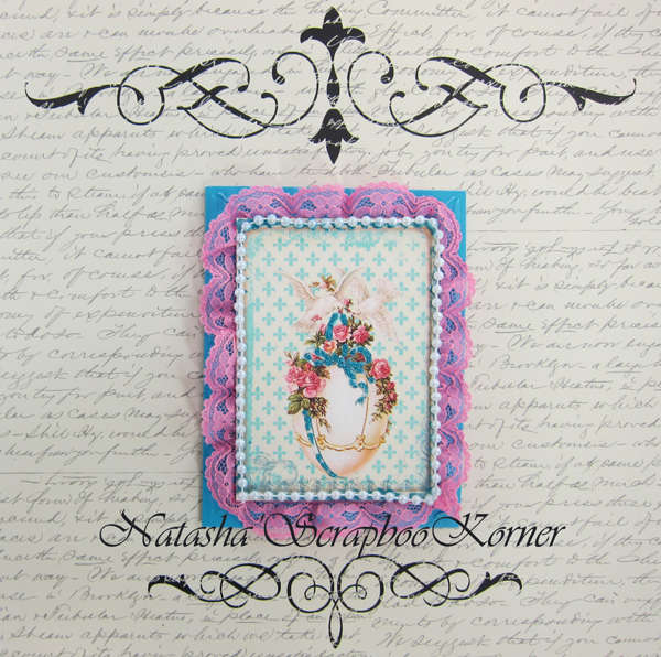 Easter Shabby Chic Card #4