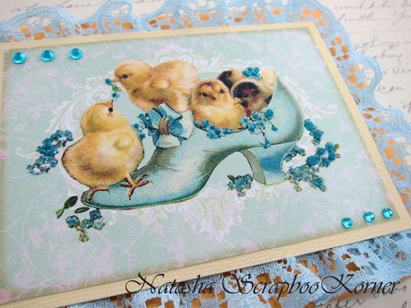 Easter Shabby Chic Card #6