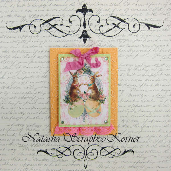 Easter Shabby Chic Card #2