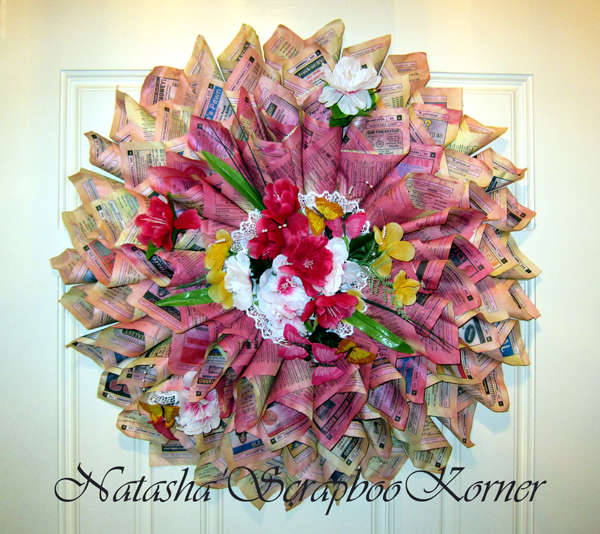 Antique Paper Wreath