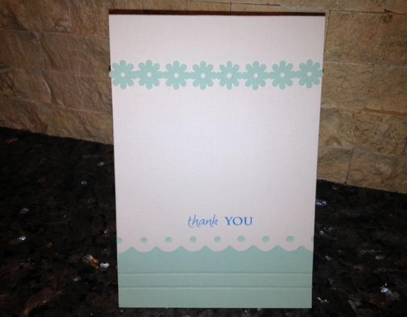 A Pastel Thank You Card