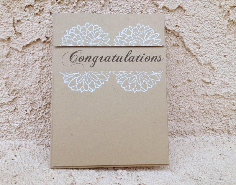 Congratulations Split Flowers on Kraft