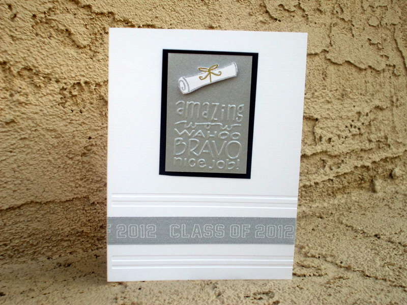Silver Graduation card