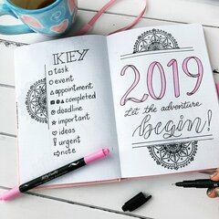 Bullet Journal Planner 2019 Set up
