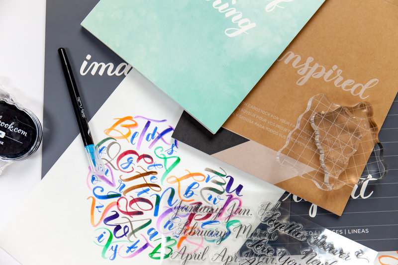 From the Exclusive Scrapbook.com Class: Brush Lettering 101 with Kelly Creates