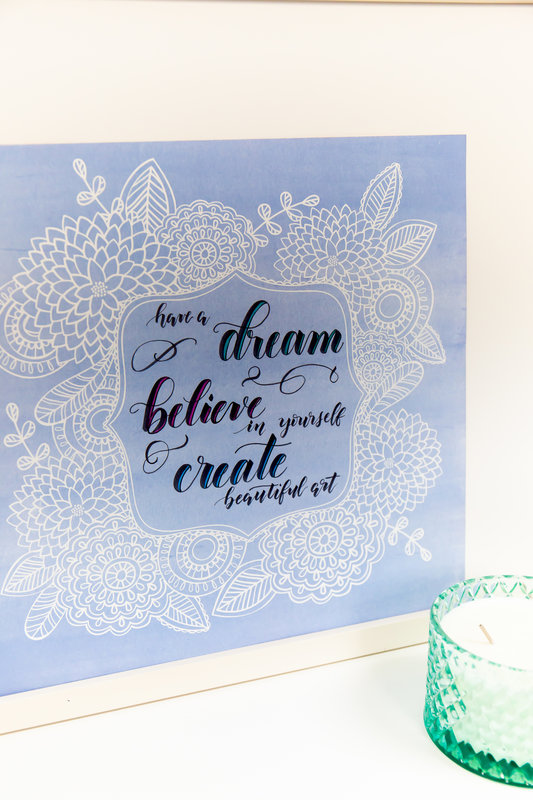 From the Exclusive Scrapbook.com Class | Brush Lettering 101 with Kelly Creates