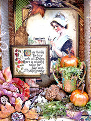 Place in Time Mixed Media Thanksgiving Shadow Box