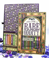 G45 Rare Oddities Frightfully Sweet Card with Pocket and tag