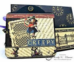 Halloween Time Pocket card with Halloween in Wonderland