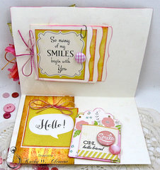 Happy is My Favorite Color Mixed Media Card