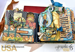 Inspire, Imagine, Create Mixed Media Tag Album with Graphic 45 Steampunk Debutante