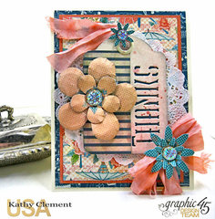 Graphic 45 Cafe Parisian Quick and Easy Thank You Notes