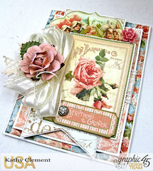 Graphic 45 Secret Garden Book Box with Tag Album and Card