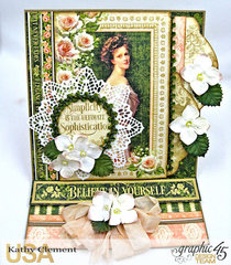 Graphic 45 Portrait of a Lady Easel Card