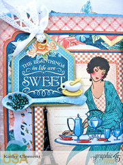 Graphic 45 Cafe Parisian Pop Up Card: The Best Things in Life are Sweet